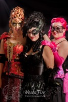 pretty ladies in masquerade costumes for Mardi-gras party in Qualicum