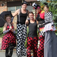 Colourful circus entertainers at corporate event in Lower Mainland