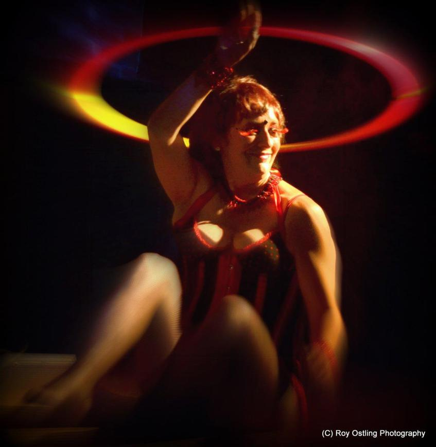 Burlesque hoop dancer in Nanaimo
