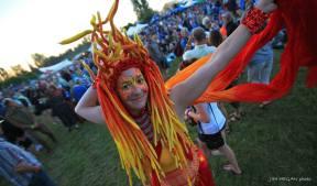 Vesta Stilter in Fire Spirit costume in Courtaney