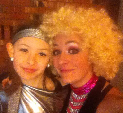 Festival entertainers in disco costumes in Nanaimo