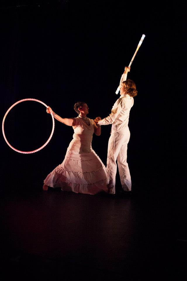 Gala show stage performance with Hoop and Contact Staff