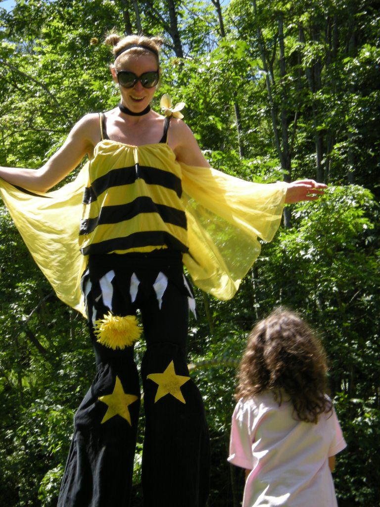 Honey Bee Stilt Costume in Nanaimo