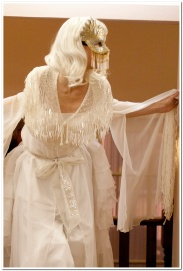 White winter spirit stilt costume