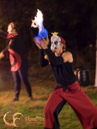 Fire performer Halloween outdoor show in Nanaimo