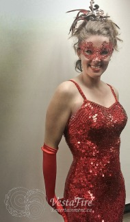 Jessica Rabbit in her Red Dress- Masquerade!