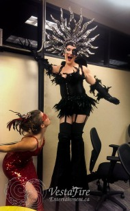 Circus masquerade entertainer at corporate event in Vancouver