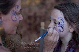 Facepainting children in Nanaimo