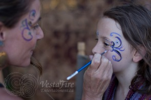 Facepainting children in Nanaimo