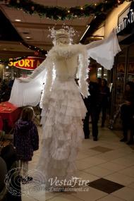 Christmas Angel stilt costume in Nanaimo