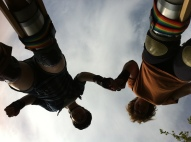 Mother daughter stilting
