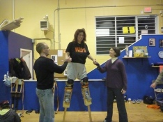 learning how to stilt walk in nanaimo