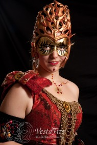 Masquerade performer at sophisticated corporate party in Victoria