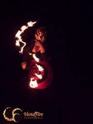 Fire juggler in circus show in Victoria