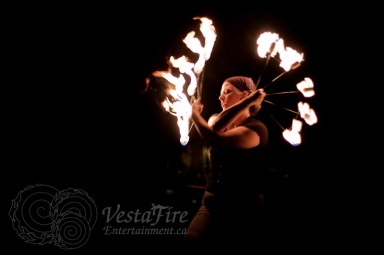 Fire juggler show at corporate event in Vancouver