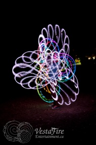 Wonderful patterns with LED hoops