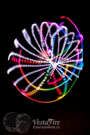 LED circus entertainer at corporate event in Vancouver