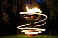 fire poi spiral with Nick Woosley