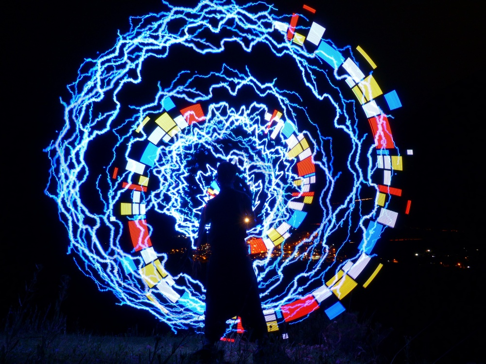 LED poi for spectactular light shows